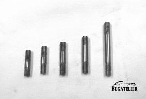Goujons de 7mm dans les longueurs disponibles